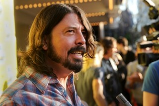Dave Grohl outside the Paramount