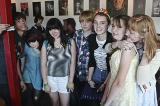 Nang Gang: (l-r) Deven Ivy of Residual Kid, Skating Polly, yours truly, Ramona Beattie, Lydia Night from Pretty Little Demons, and Grace London at the Continental Club Gallery Proper Nang Youngbloods Day Party.