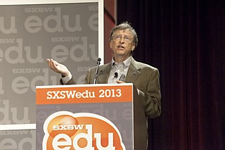SXSW keynoter Bill Gates predicted a reshaped education market, where cash previously set aside for textbooks would be reallocated into the IT budget. Yet if Gates had tried to spread that same buoyant mood across the three phases of the main Conference, there  would have been more battle-hardened eyes cast his way.