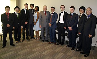 The 2012 class of Texas Young Composers, with Jocelyn Chambers fifth from the left
