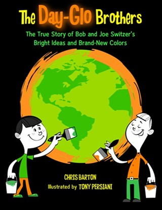 Chris Barton's The Day-Glo Brothers is part of the family literacy day on April 11.