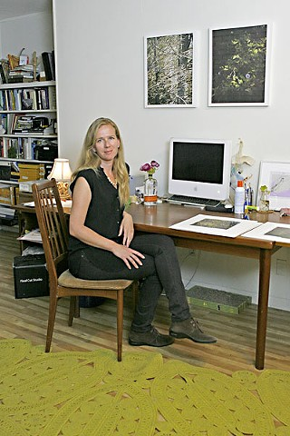 Elizabeth Chiles in her studio