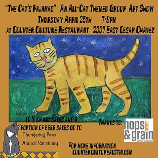 Cat Art and Craft Beer and Vegan Bake Sales, Oh My!
