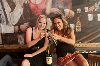 Bottoms up: Barbara Nesbitt (l) and Teal Collins