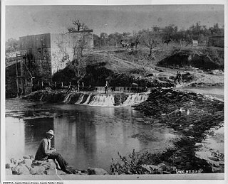 Grist Mill at Barton Springs, 1860