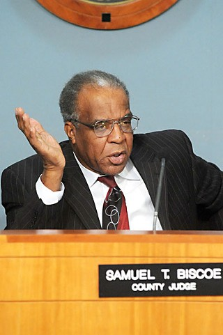 County Judge Sam Biscoe