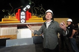 Alamo Drafthouse CEO Tim League at the Slaughter Lane location during its construction