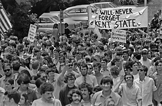 Some 20,000 UT students, professors,  and staff march through Downtown in response to the 1970 fatal shooting of student protesters at Kent State and Jackson State by the National Guard and state police, respectively.