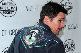 Ethan Hawke shows off his Hank Williams Western wear at Austin's Before Midnight premiere.