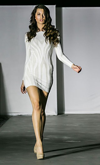 A new look from the recent Young &amp; Fabulous womenswear show (<b>www.young&amp;fabulous.com</b>), poolside at the W