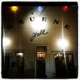 Outside the historic Gruene Hall