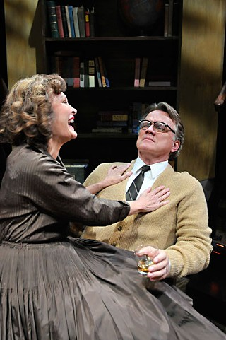 Just a hint of the hard stuff: Babs George and Ev Lunning in <i>Who's Afraid of Virginia Woolf?</i>