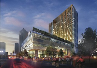 A rendering of the JW Marriott Hotel