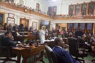 Last time the Senate considered the sweeping bill, Sen. Wendy Davis, D-Fort Worth, successfully filibustered the measure. That did not happen Friday night