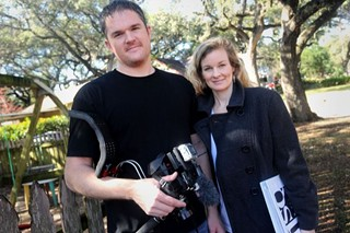 Carl and Betsy Crum with Brazos Film & Video LLC filmed an episode of One Square Mile in Austin in January 2011.