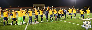 Aztex celebrate winning the PDL Southern Conference title Saturday.