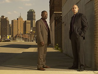 Lennie James (l) and Mark Strong star in <i>Low Winter Sun.</i>