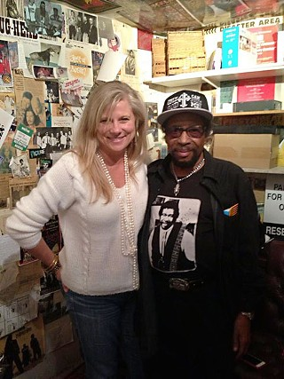 Arlyn Studios proprietor Lisa Fletcher with Patterson at the South Austin recording hub