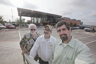 (l-r) Girard Kinney, Rick Krivoniak, and Jim Walker near the newly opened H-E-B