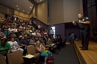 APD Chief Art Acevedo faced sharp questions on Aug. 15.