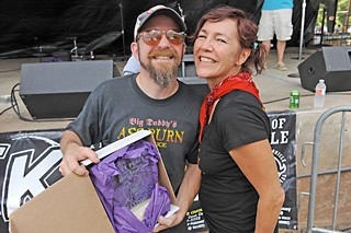 Commercial Bottler's Pepper Sauce winners Trevi and Becky Biles of Big Daddy's Hot Sauces