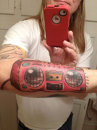 Danny Barnes doesn't just wear his love of cassettes on his sleeve.