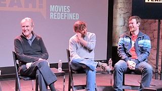 (l-r) Wes Craven, Richard Linklater, and Joe Swanberg: grand master, reigning king, and heir apparent to the indie cinema throne