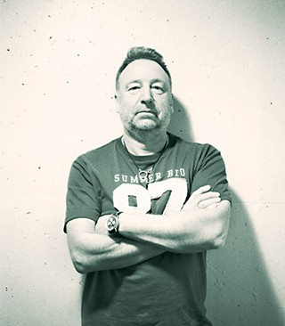 """Most music is a history lesson, because as soon as the record comes out, it becomes history. It's just to how long its historic value is."" Peter Hook revisits the first two New Order albums tonight at the Belmont with his new band, the Light"