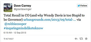 Dave Carney's Too Stupid tweet