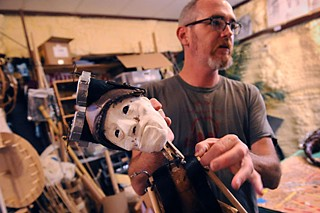 Trouble Puppet mastermind Connor Hopkins fine-tunes the Mechanic.