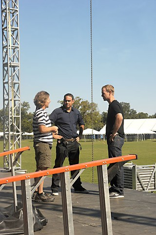 C3 Presents: (l-r) Charlie Jones, Charles Attal, and Charlie Walker in Zilker Park, 2010