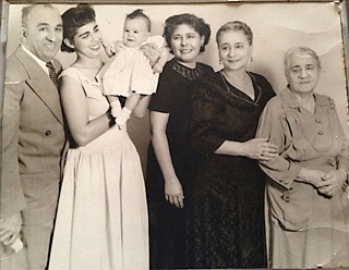 Five generations: (l-r) Charles Attal's grandfather Wolfred, his aunt Elaine and cousin Rhonda, grandmother Martha, Wolfred's mother Helena, and her mother Catherine, who everyone called Tita Dacy