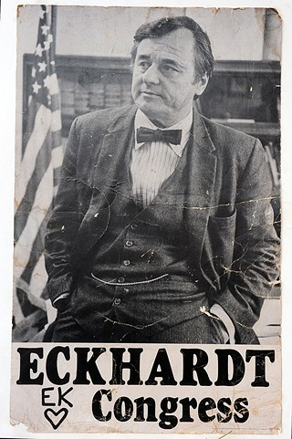 A campaign poster of Bob Eckhardt