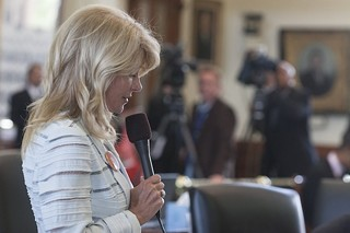 Sen. Wendy Davis, D-Fort Worth, during the women's health debate filibuster that made her a national figure, and now propels her into the race to be governor