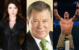 Firefly's Jewel Staite, the original Star Trek captain, William Shatner, and the hardest working man in sports entertainment, John Cena: All appearing at Wizard World Austin Comic Con 2013