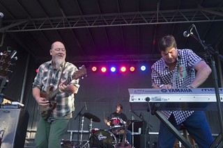 Linger fickin' good: (l-r) Shinyribs' Kevin Russell, Keith Langford, and Winfield Cheek