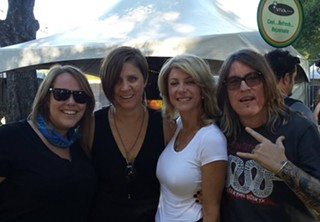 Just hangin' with the aspirant guv: Meagan Biscamp, Amy Teykle, The Wendy, and Katy Koonce