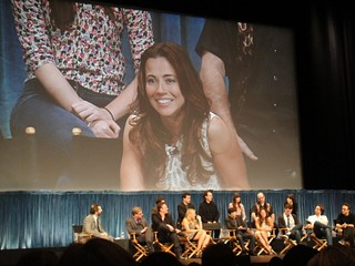 Linda Cardellini at the Freaks and Geeks reunion in 2011