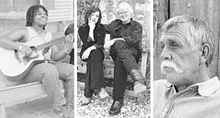 (l)Ruthie Foster and Cyd Cassone<br>(photo by Laurie Drum)<p>