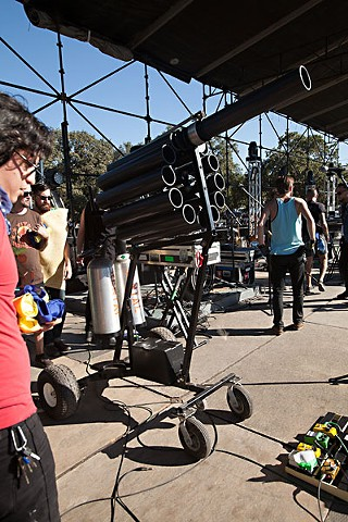 The taco cannon in action at FFFF 2012