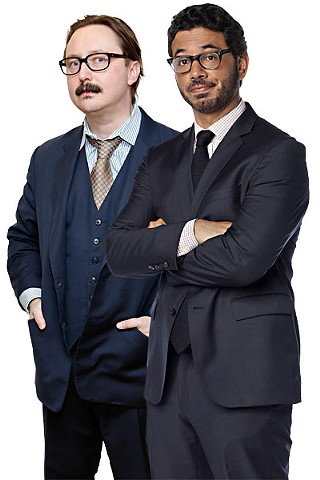 John Hodgman (l) and Al Madrigal