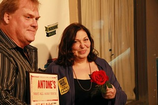 Frank Hendrix and Susan Antone backstage at the 2012 Austin Music Awards