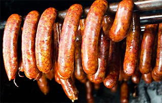 Sausage links at La Barbecue