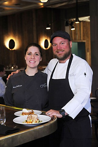 Mary Catherine and Chef Andrew Curren