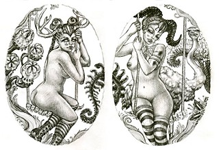 <b><i>Freya &amp; Feronia</i></b> just one of the prints for sale &#10;at Analy&#39;s &#10;Art garage&#10; sale (See Saturday).