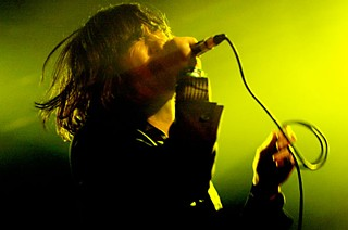 A newly sober Bobby Gillespie at Primal Scream's SXSW 2009 performance