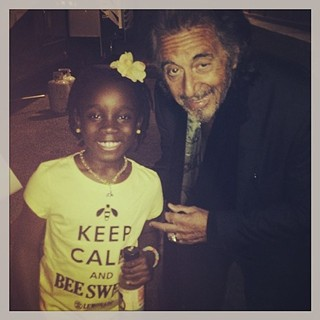 Mikaila Ulmer and Al Pacino, bee-ing sweet