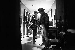 Billy and Dusty prepare to take the stage at the Ryman Auditorium in Nashville, 2013.