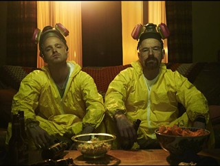 Aaron Paul (l) and Bryan Cranston as Jesse and Walt in Breaking Bad
