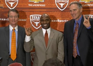 UT athletic director Steve Patterson is excited about Texas football!